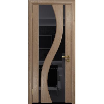 Ульяновская дверь Веста дуб стекло триплекс черный