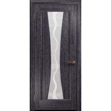 Ульяновская дверь Соната-1 абрикос стекло белое пескоструйное «каньон»
