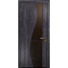 Ульяновская дверь Фрея-2 абрикос стекло триплекс бронзовый