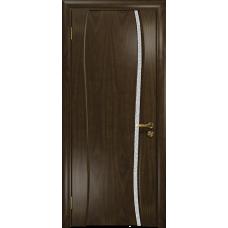 Ульяновская дверь Портелло-1 американский орех тонированный стекло триплекс белый с тканью