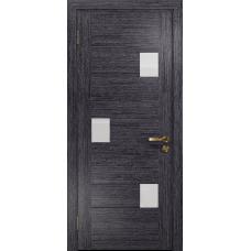 Ульяновская дверь Ронда-1 абрикос стекло триплекс белый