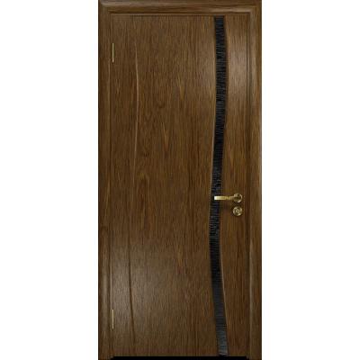 Ульяновская дверь Грация-1 сукупира стекло триплекс черный с тканью