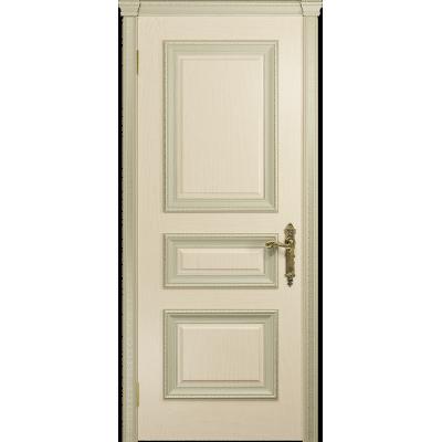 Ульяновская дверь Версаль-2 Декор ясень слоновая кость глухая