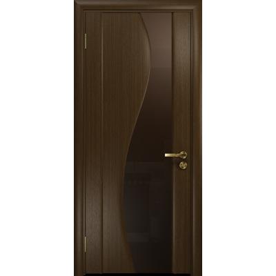 Ульяновская дверь Фрея-2 венге стекло триплекс бронзовый