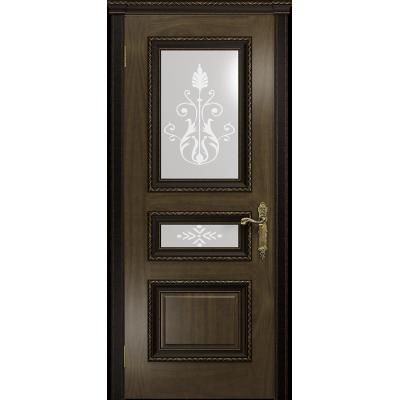 Ульяновская дверь Версаль-2 Декор американский орех стекло белое пескоструйное «версаль-2»