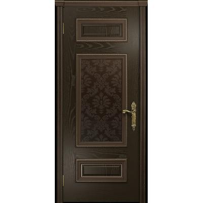 Ульяновская дверь Версаль-4 ясень венге стекло бронзовое пескоструйное «ковер»