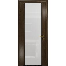 Ульяновская дверь Триумф-3 американский орех тонированный стекло триплекс белый