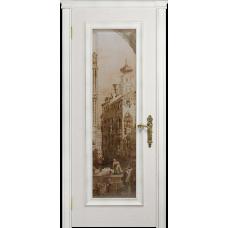 Ульяновская дверь Версаль-5 Декор ясень белый стекло цифровая фреска