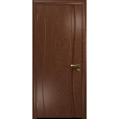 Ульяновская дверь Грация-1 красное дерево глухая