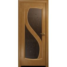 Ульяновская дверь Диона-2 анегри стекло бронзовое пескоструйное «лилия»