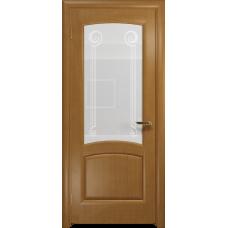 Ульяновская дверь Ровере анегри стекло белое пескоструйное «зенон»