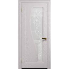Ульяновская дверь Фрея-1 ясень белый стекло белое пескоструйное «сабина»