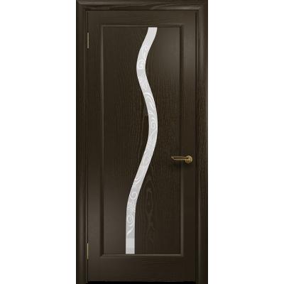 Ульяновская дверь Миланика-4 ясень венге стекло белое пескоструйное «миланика-4»