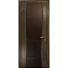 Ульяновская дверь Портелло-2 американский орех стекло триплекс бронзовый