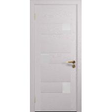 Ульяновская дверь Ронда-1 ясень белый стекло триплекс белый