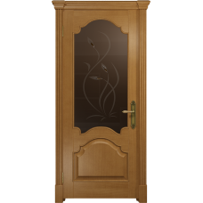 Ульяновская дверь Валенсия-1 анегри стекло бронзовое пескоструйное «фиор»