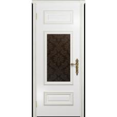 Ульяновская дверь Версаль-4 эмаль белая стекло бронзовое пескоструйное «ковер»