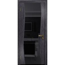 Ульяновская дверь Грация-3 абрикос стекло триплекс черный