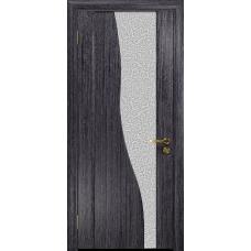 Ульяновская дверь Торелло абрикос стекло триплекс белый с тканью
