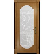 Ульяновская дверь Валенсия-2 анегри стекло белое пескоструйное «кампанелла»