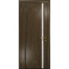 Ульяновская дверь Триумф-1 американский орех стекло триплекс белый 3d «куб»