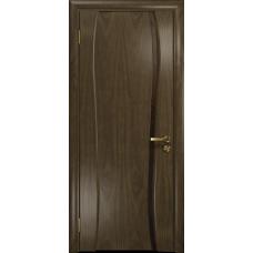 Ульяновская дверь Портелло-1 американский орех стекло триплекс бронзовый «вьюнок» матовый