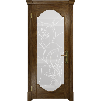 Ульяновская дверь Валенсия-2 сукупира стекло белое пескоструйное «кампанелла»