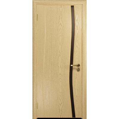 Ульяновская дверь Грация-1 ясень ваниль стекло триплекс бронзовый