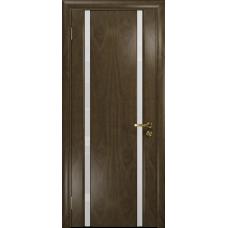 Ульяновская дверь Триумф-2 американский орех стекло триплекс белый