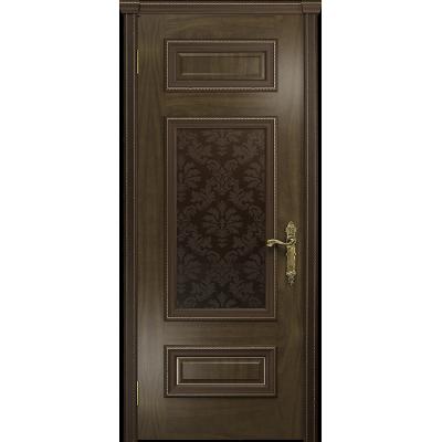 Ульяновская дверь Версаль-4 американский орех тонированный стекло бронзовое пескоструйное «ковер»