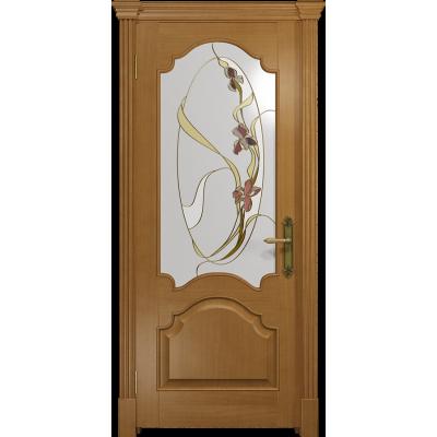 Ульяновская дверь Валенсия-1 анегри стекло витраж «овал»