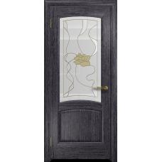 Ульяновская дверь Ровере абрикос стекло витраж «соната»