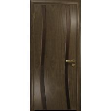 Ульяновская дверь Грация-2 американский орех стекло триплекс бронзовый «вьюнок» глянцевый