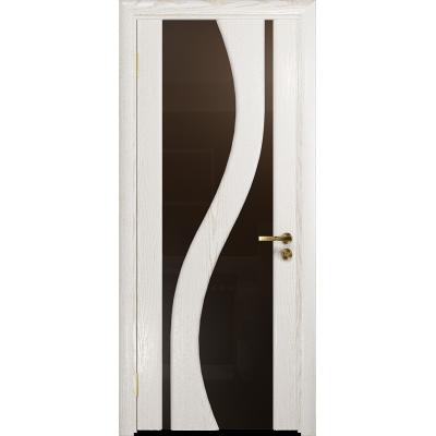 Ульяновская дверь Веста ясень белый золото стекло триплекс бронзовый