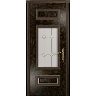 Ульяновская дверь Версаль-4 ясень венге золото стекло витраж «адель»