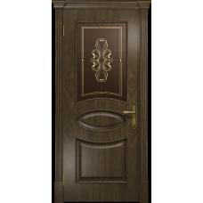 Ульяновская дверь Санремо американский орех стекло бронзовое пескоструйное «вдохновение»