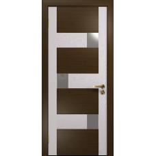 Ульяновская дверь Ронда-1 венге/ясень белый стекло триплекс зеркало