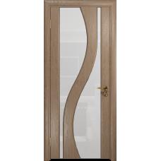 Ульяновская дверь Веста дуб стекло триплекс белый