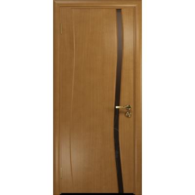 Ульяновская дверь Грация-1 анегри стекло триплекс бронзовый «вьюнок» глянцевый