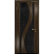 Ульяновская дверь Веста американский орех тонированный стекло триплекс черный с тканью