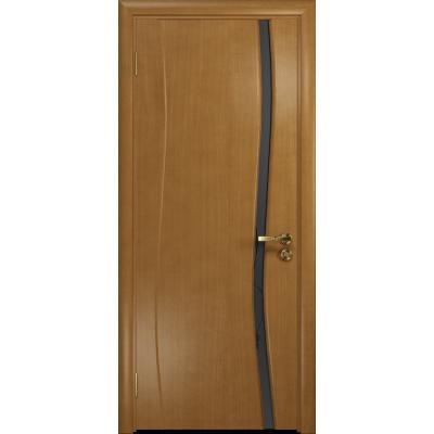 Ульяновская дверь Грация-1 анегри стекло триплекс черный «вьюнок» матовый