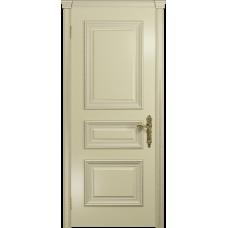 Ульяновская дверь Версаль-2 Декор эмаль слоновая кость глухая