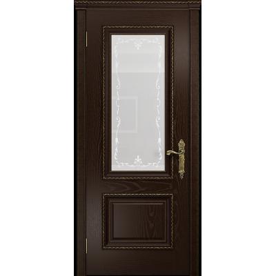 Ульяновская дверь Версаль-1 ясень венге стекло белое пескоструйное «версаль-1»
