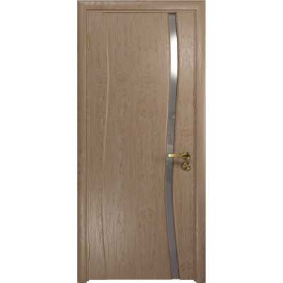 Ульяновская дверь Грация-1 дуб стекло триплекс зеркало