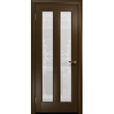 Ульяновская дверь Тесей венге стекло белое пескоструйное «порта»