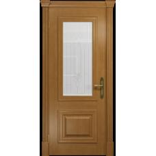 Ульяновская дверь Кардинал анегри стекло белое с гравировкой «кардинал»