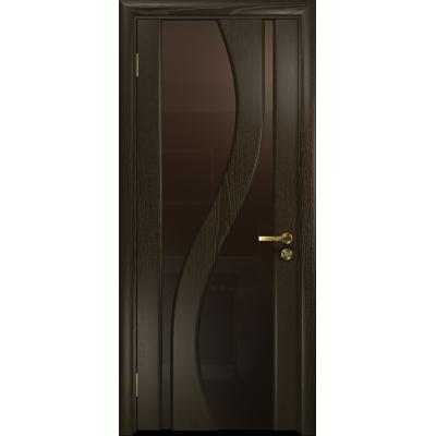 Ульяновская дверь Веста ясень венге стекло триплекс бронзовый