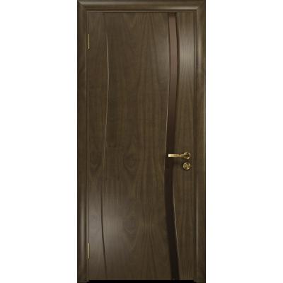 Ульяновская дверь Грация-1 американский орех стекло триплекс бронзовый