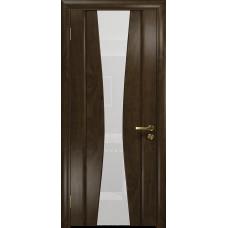 Ульяновская дверь Соната-2 американский орех тонированный стекло триплекс белый