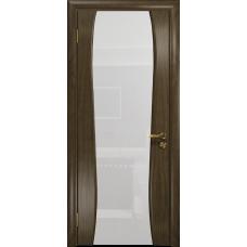 Ульяновская дверь Портелло-2 американский орех стекло триплекс белый